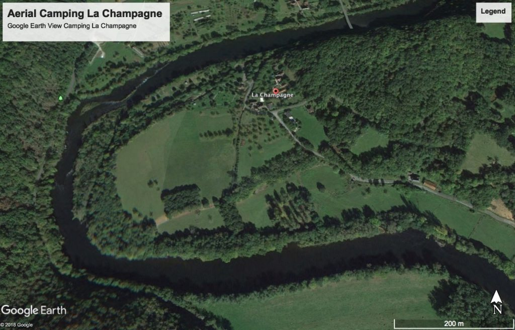 Kleine camping la Champagne Google Earth View