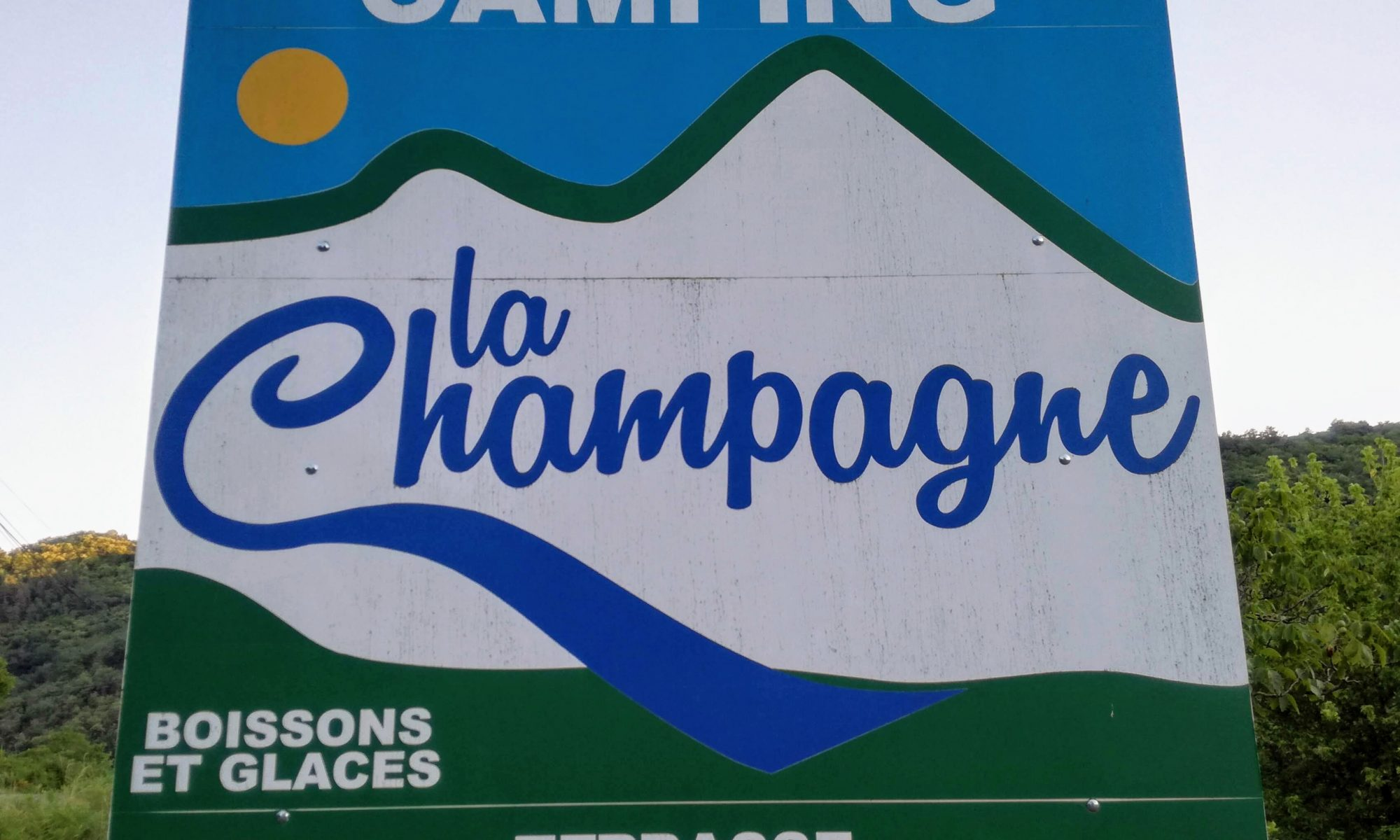 Camping la Champagne welkom terras
