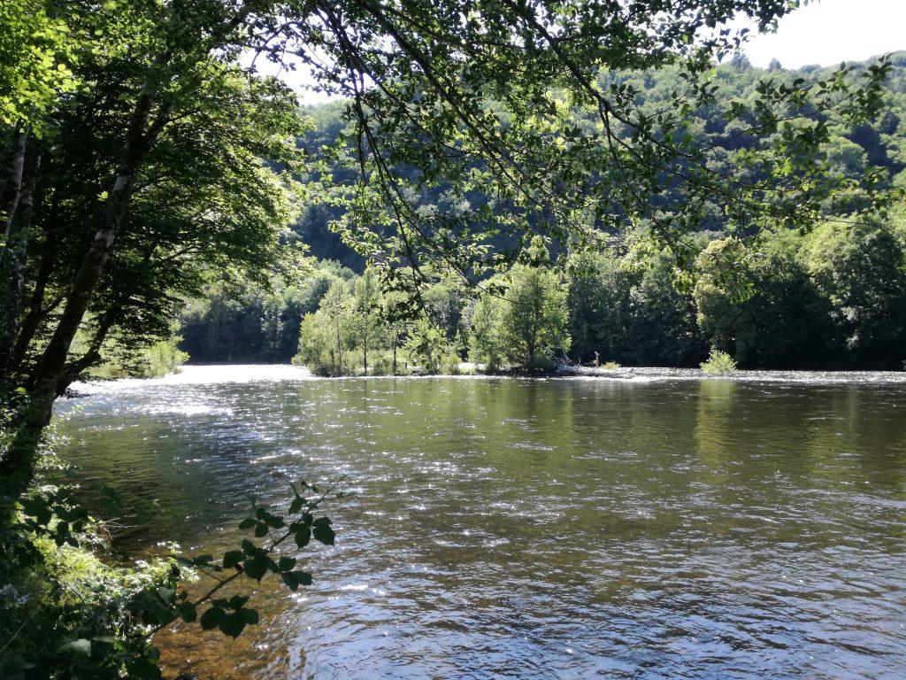 Uitzicht van uw plek vanaf de kleine camping Dordogne