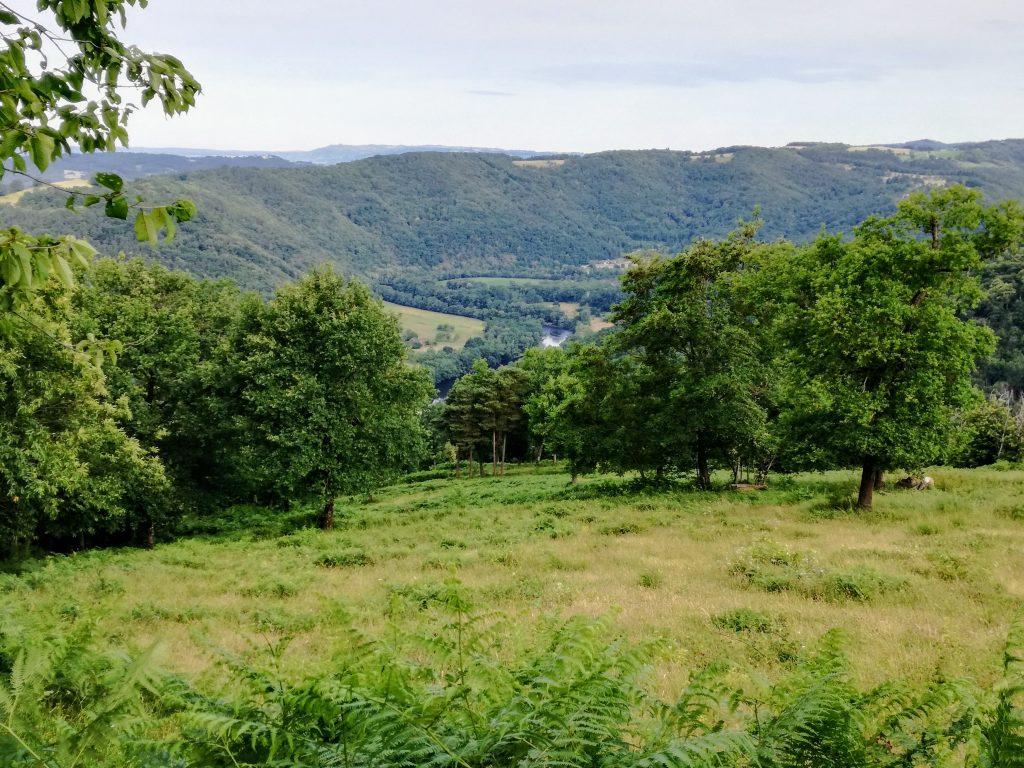 De vallei van de Dordogne uitzicht kleine camping